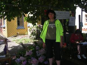 Audrey van Ryn outside no. 10 - 20 January