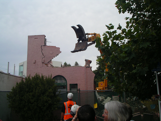 No. 8 being demolished - 28 January