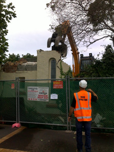 No. 12 being demolished - 28 January
